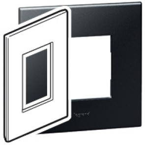Plate Arteor - American standard - square - 3 modules - 2'' x 4'' - graphite