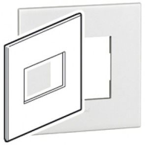 Plate Arteor - American standard - square - 3 modules - 4''x4'' - white
