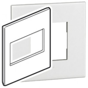 Plate Arteor - American standard - square - 4 modules - 4''x4'' - white