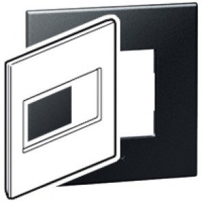 Plate Arteor - American standard - square - 4 modules - 4''x4'' - graphite
