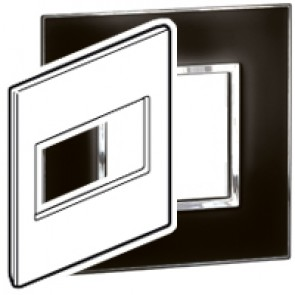 Plate Arteor - US standard - square - 4 modules - 4''x4'' - mirror black