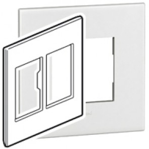 Plate Arteor - American standard - square - 2 x 3 modules - 4''x4'' - white