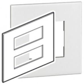 Plate Arteor - British standard - square - 2 x 6 modules - white