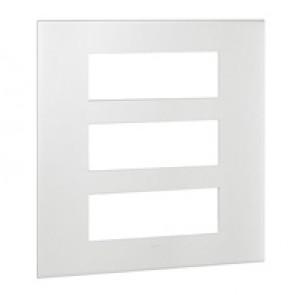 Plate Arteor - British standard - square - 3 x 6 modules - white