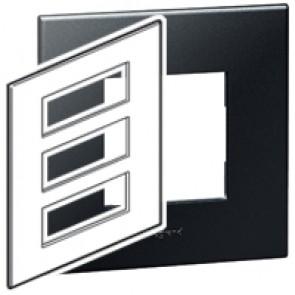 Plate Arteor - British standard - square - 3 x 6 modules - graphite