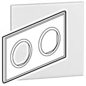 Plate Arteor - French/German standard - round - 2 x 2 modules - white