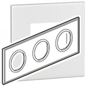 Plate Arteor - French/German standard - round - 3 x 2 modules - white