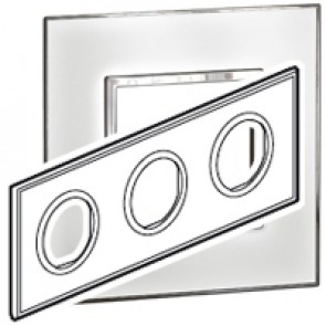 Plate Arteor - French/German standard - round - 3 x 2 modules - mirror white