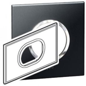 Plate Arteor - British standard - round - 3 modules - graphite