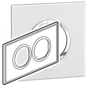 Plate Arteor - British standard - round - 4 modules - white