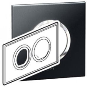 Plate Arteor - British standard - round - 4 modules - graphite
