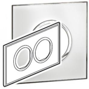 Plate Arteor - British standard - round - 4 modules - mirror white
