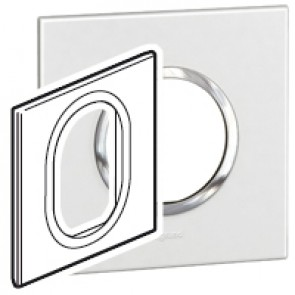 Plate Arteor - British standard - round - 3 modules 1-gang - white