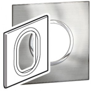Plate Arteor - British standard - round - 3 modules 1-gang - stainless style