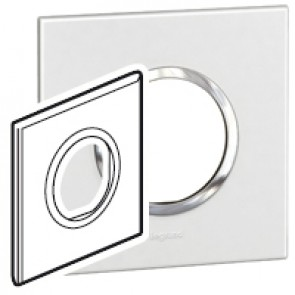 Plate Arteor - British standard - round - 2 modules - white