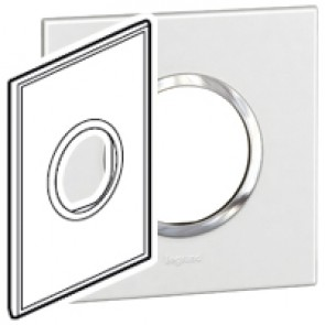 Plate Arteor - American standard - round - 2 modules - 2'' x 4'' - white