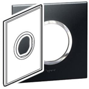 Plate Arteor - American standard - round - 2 modules - 2'' x 4'' - graphite