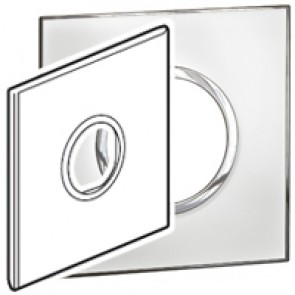 Plate Arteor - US standard - round - 2 modules - 4''x4'' - mirror white