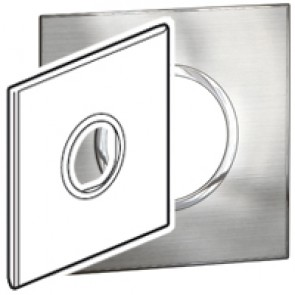 Plate Arteor - US standard - round - 2 modules - 4''x4'' - stainless steel