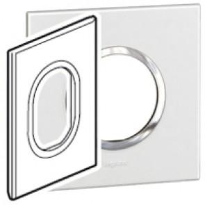 Plate Arteor - American standard - round - 3 modules - 2'' x 4'' - white