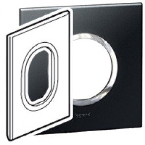 Plate Arteor - American standard - round - 3 modules - 2'' x 4'' - graphite