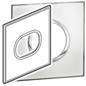 Plate Arteor - US standard - round - 3 modules - 4''x4'' - mirror white