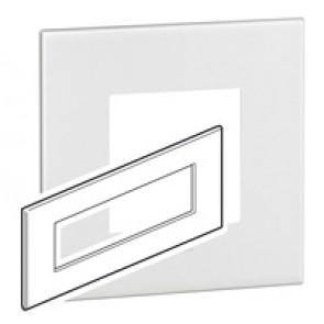 Plate Arteor - British standard - square - 8 modules - white