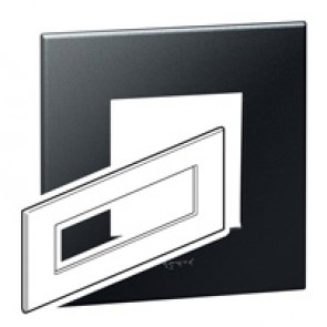 Plate Arteor - British standard - square - 8 modules - graphite