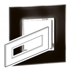 Plate Arteor - British standard - square - 8 modules - mirror black