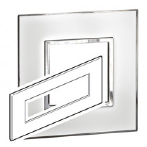 Plate Arteor - British standard - square - 8 modules - mirror white
