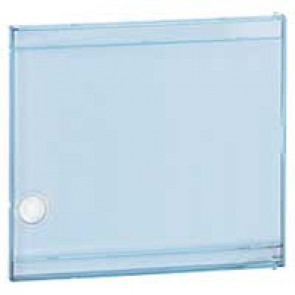 Door - for Nedbox 6012 40 - transparent plastic blue tinted - polycarbonate
