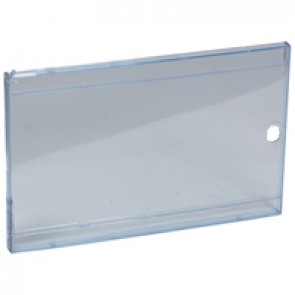 Door - for Nedbox 6012 41 - transparent plastic blue tinted - polycarbonate