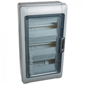Cabinets PLEXO³ - IP65 - IK09 - 3 rows - 12 modules