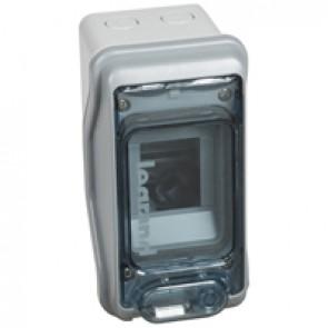 Cabinets PLEXO³ - IP65 - IK09 - 2 (+1) modules - 1 row