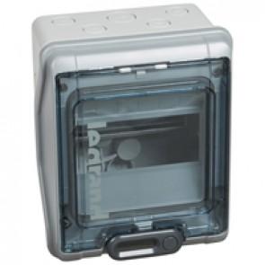 Cabinets PLEXO³ - IP65 - IK09 - 6 modules - 1 row