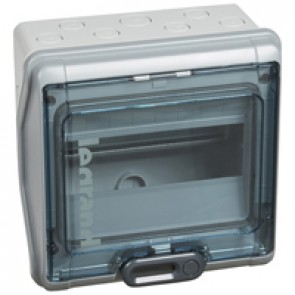 Cabinets PLEXO³ - IP65 - IK09 - 8 modules - 1 row