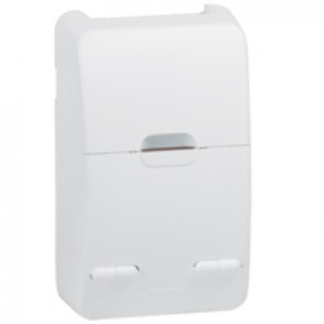 Surface mounting box - 8 modules units - Plastic IP30 - IK07 - White RAL 9003