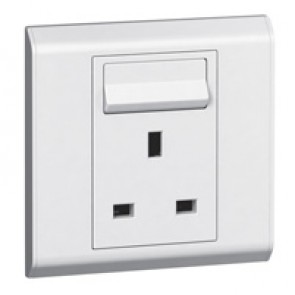 British standard socket outlet Belanko - 1 gang Single Pole switched + neon - 13 A 250 V~