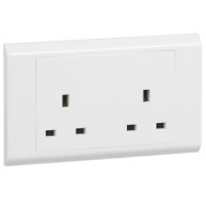 British standard socket outlet Belanko - 2 gang unswitched - 13 A 250 V~