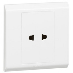Euro/US socket outlet Belanko - 1 gang - 2P - 10 A 250 V~ / 15 A - 127 V~