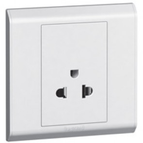 Euro/US socket outlet Belanko - 1 gang - 2P+E - 10 A- 250 V~/15 A-127 V~
