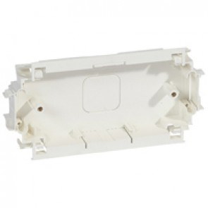 Back box for mounting British standard wiring accessories - depth 25 mm - 2 gang