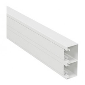 Rigid cover DLP-S snap-on trunking 130x50 mm - 45 mm cover - 2-compartment - supplied in 6 units of 2 m length