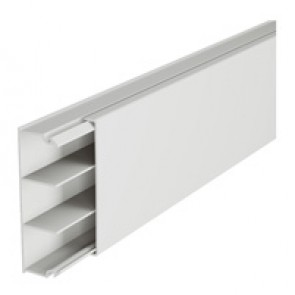Distribution mini-trunking 60 x 20 mm - without central partition - 2 m length