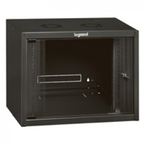 "Linkeo fix 19"" cabinet with fix side panels - capacity 9U - dimensions 492x600x450 mm - ready-assembled"