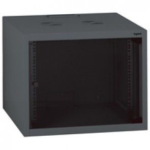 "Linkeo fix 19"" cabinet with fix side panels - capacity 6U - dimensions 358x600x600 mm - ready-assembled"