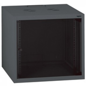 "Linkeo fix 19"" cabinet with fix side panels - capacity 9U - dimensions 492x600x600 mm - ready-assembled"