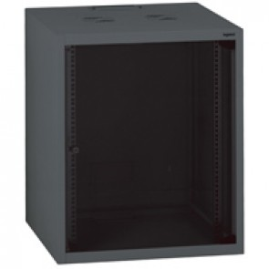"Linkeo fix 19"" cabinet with fix side panels - capacity 15U - dimensions 758x600x600 mm - ready-assembled"