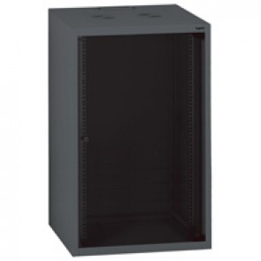 "Linkeo fix 19"" cabinet with fix side panels - capacity 21U - dimensions 1035x600x600 mm - ready-assembled"