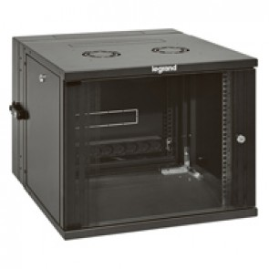 "Linkeo pivoting 19"" cabinet with pivoting body - capacity 18U - dimensions 871x600x610 mm - ready-assembled"